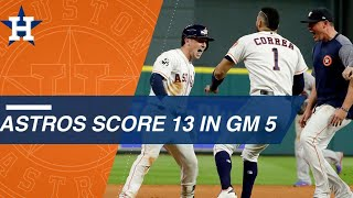 Check out all the Astros' runs from Game 5 of the World Series