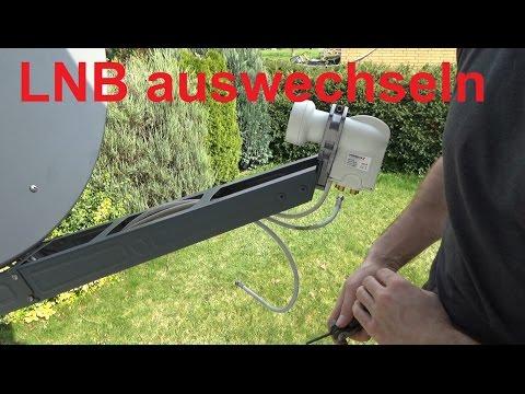 Twin LNB durch Quad LNB austauschen DVB S Sat Anlage anschließen Satelliten Schüssel
