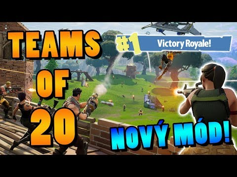 NOVÝ MÓD! TEAMS OF 20 │Fortnite: Battle Royale