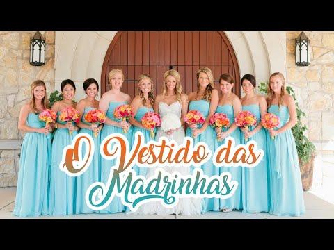 Como escolher o vestido das Madrinhas - Véu de Noiva