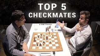 Top 5 Checkmates & Game Finishes | GRENKE Chess