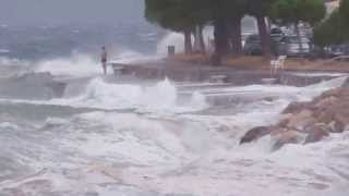 preview picture of video 'NEVIHTA / STORM IN PIRAN, SLOVENIA, JULY 2013'