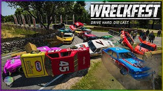 FINAL CORNER FAILS! [Farmlands Stage 4] | Wreckfest | NASCAR Legends