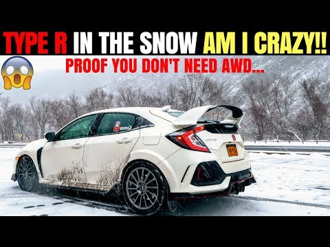 Civic Type R Snow & Winter Review | Tips For Driving FWD Sports Car Snow | Proof You Don't Need AWD