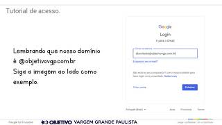 Tutorial de acesso - Google for Education