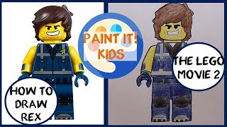How to Draw a Lego Man: Rex Dangervest from The Lego Movie 2 - Easy Step By Step