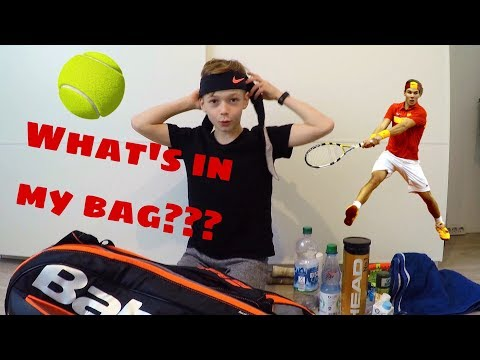 What's in my tennis bag? BAG CHECK BY LEON #bagcheckchallenge