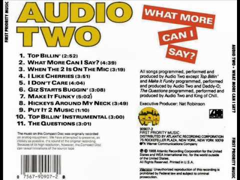 Audio Two - Giz Starts Buggin' (What More Can I Say) 1988 Mp3