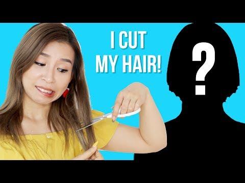 I Cut My Hair! New Hair Transformation || Tina Yong