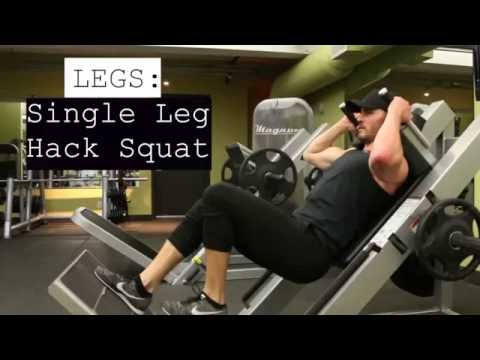 Legs Single Leg HacK Squat