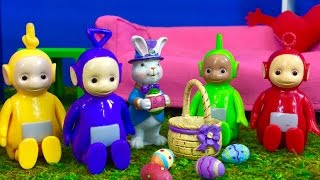 TODDLERS EASTER EGG Hunt TELETUBBIES TOYS and EASTER Bunny Learning Colors!
