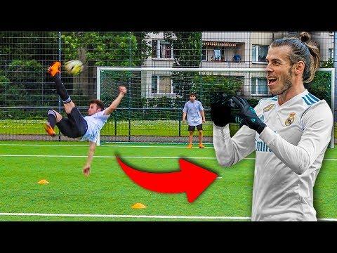 GARETH BALE FALLRÜCKZIEHER FUßBALL CHALLENGE!!!