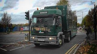 RARE! London Metropolitan Police escorting UNMARKED Iveco TRUCK!
