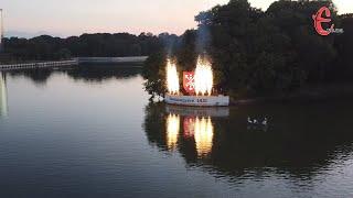 У Хмельницькому на Івана Купала влаштували вогняне шоу на воді (ФОТО+ВІДЕО)