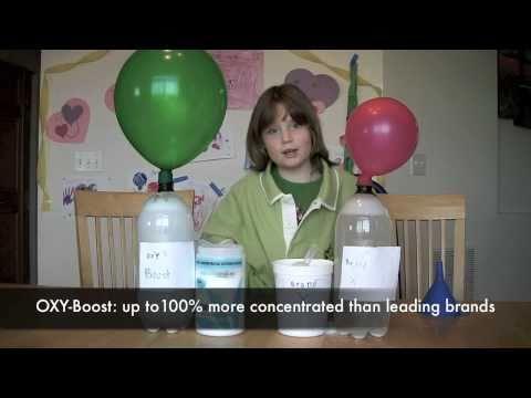Funny Oxygen Bleach Test for ecoGeeks O2-Boost (OXY-Boost)