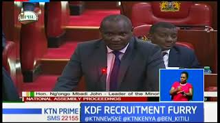 MPs decry new KDF recruitment order