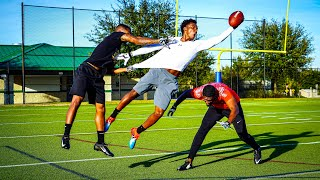 EXPOSE HIM!!! KING OF THE FIELD WR VS DB 1ON1'S (ANKLES WERE TOOK)