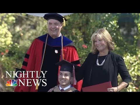 Mom Receives Honorary Degree After Attending Every Class With Quadriplegic Son | NBC Nightly News