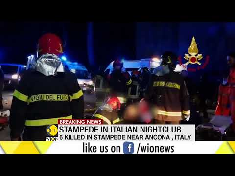 Stampede in Italian nightclub; 6 killed