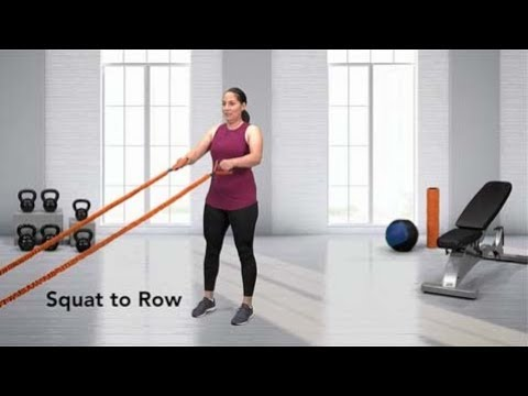 Squat to Row