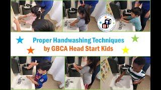 Proper Handing Washing Techniques by GBCA Head Start Kids