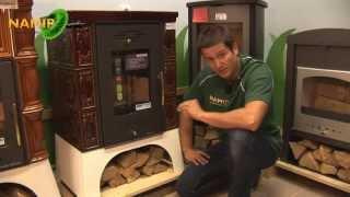 Кахельна піч на дровах Haas + Sohn Empoli бордова від компанії House heat - відео 2