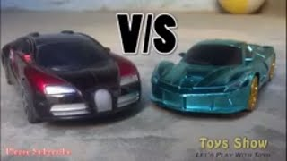 Bugatti vs Lamborghini Toy Car Racing (Toys Show) Let's play with toys