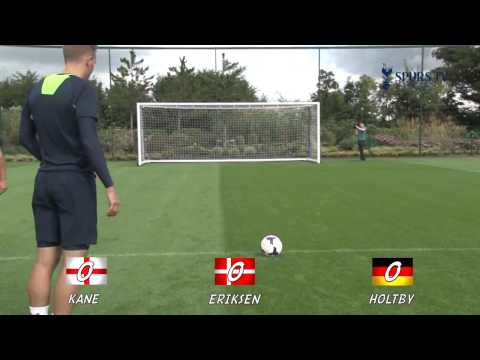 Spurs Crossbar Challenge ft  Eriksen, Holtby and Kane