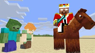Monster School : When Herobrine became king ( RIP Herobrine ? ) - sad minecraft animation