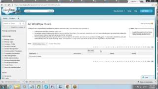 Working with Workflow Rules(Part 1) in Salesforce by Jeet Singh
