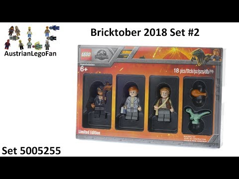 Vidéo LEGO Objets divers 5005255 : Bricktober 2018 LEGO Jurassic World [Exclusive Minifigures Toys'R'Us]