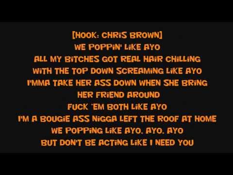 Chris Brown X Tyga  Ayo lyrics