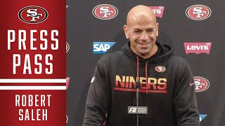 Robert Saleh, Richard Sherman and Other Members of the 49ers Discuss NFC Championship vs. Packers