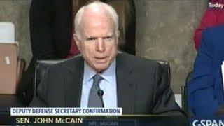 """Not A Good Beginning!"" Senator McCain Disappointed With Deputy Defense Secretary Nominee"