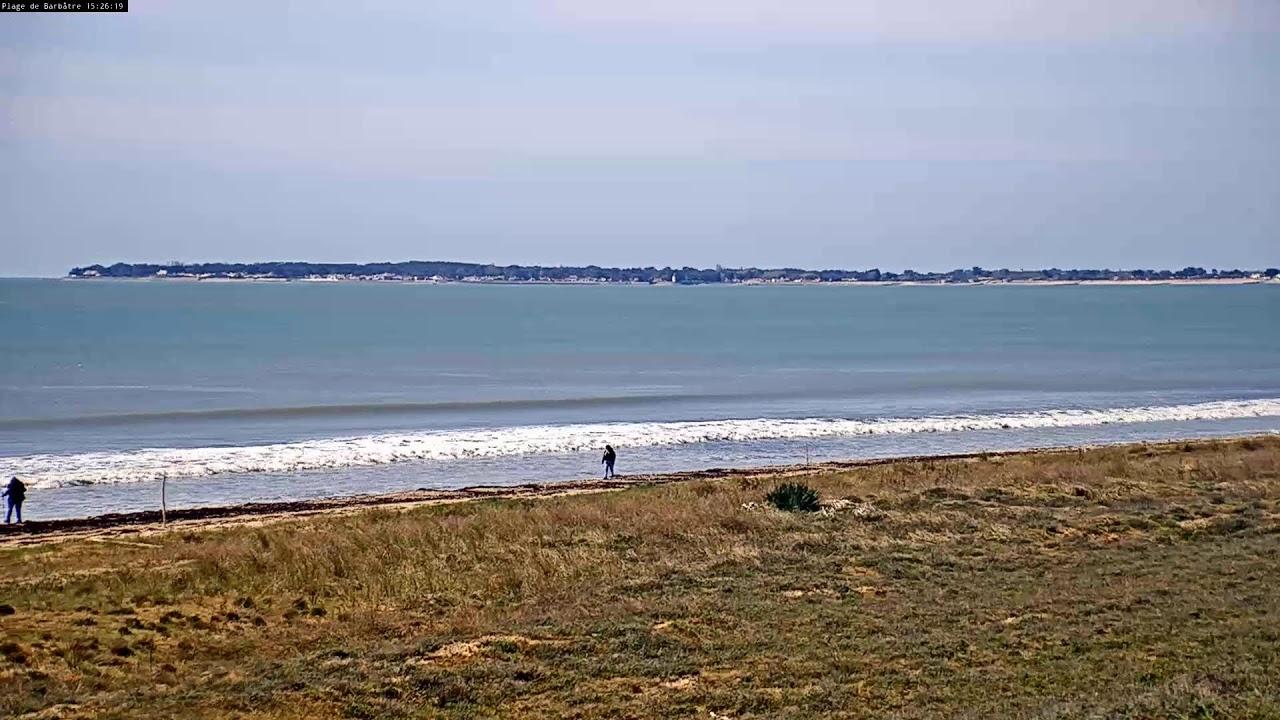 Webcam live de la plage des Boucholeurs à Barbâtre