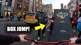 BMX BOX JUMP IN THE MIDDLE OF THE STREET!