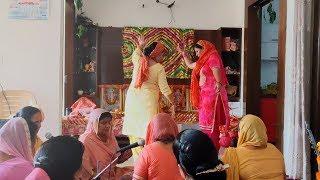 Pahari  Gidda 👌😉 || Bhajan Kirtan Dance || Himachali Culture || Mandyali Dholki Chimta Music