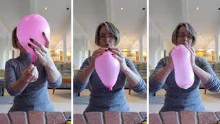 Woman Explains Contractions With A Balloon