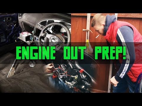 MK5 ZS Track Project | Part 6 | Engine Out Prep + Carpeting The Track MK5!