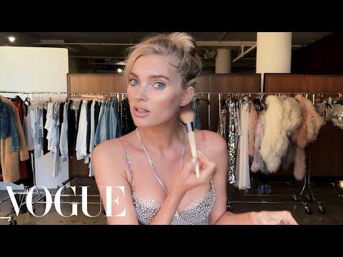 Elsa Hosk Unveils the Victoria's Secret Fantasy Bra & Her Angel Makeup Look   Beauty Secrets