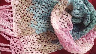 Kolay Tığişi Şal / Easy Lace Shawl