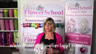Brooch Bouquet Training At Kays Flower School
