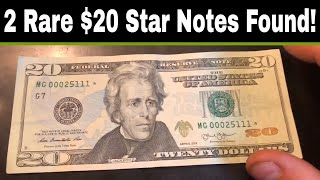 Searching 20K in Currency - More Rare $20 Star Notes Found!