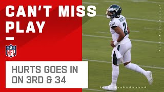 Eagles Send in Jalen Hurts on 3rd & Incredibly Long