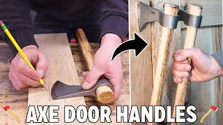 Making Door Handles From Hatchets
