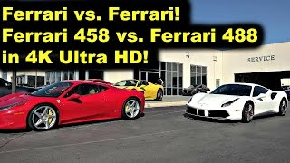 Ferrari 488 GTB vs. Ferrari 458 - Ferrari vs. Ferrari in 4K Ultra HD - Review and Test Drive - by Jo