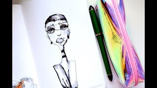 Continuous Line Drawing: Ink + Water | Tutorial