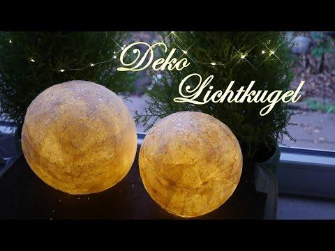 Leuchtende Papierkugeln - Kleisterige Lampen selber basteln
