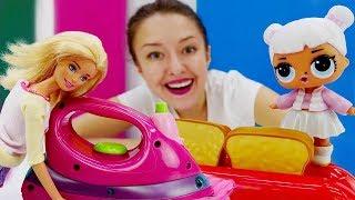 Видео для детей. Весёлая школа. Куклы и бытовая техника.