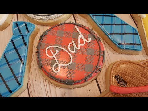 Plaid Dad Plaque Father's Day Sugar Cookies on Kookievision